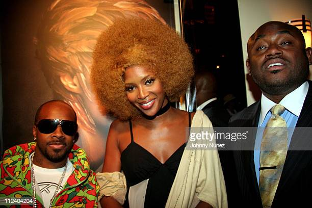 Jermaine Dupri Naomi Campbell and Steve Stoute during Naomi Campbell Hosts Fete for Iman at Cipriani at 23rd St in New York