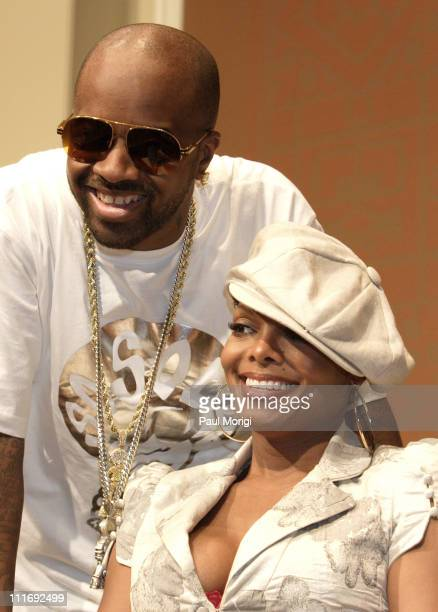 Jermaine Dupri Virgin Records President of Urban Music and Janet Jackson discuss her upcoming album 20 Years Old at a press conference in Washington...