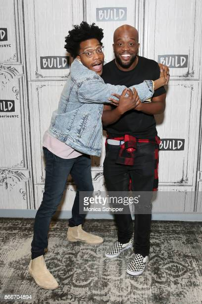 """Jermaine Fowler and Rell Battle discuss """"Superior Donuts"""" at Build Studio on October 26, 2017 in New York City."""
