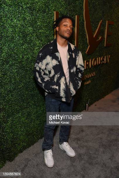Jermaine Fowler attends Grey Goose Toasts To A Year Of Victorious Filmmaking at The MACRO Pre-Oscars Party at Fig & Olive on February 06, 2020 in...