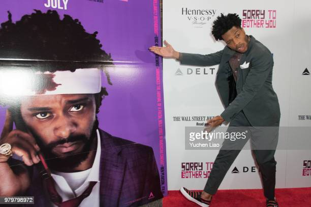 """Jermaine Fowler attends """"Sorry To Bother You"""" 10th Annual BAMcinemaFest Opening Night Premiere at BAM Harvey Theater on June 20, 2018 in New York..."""