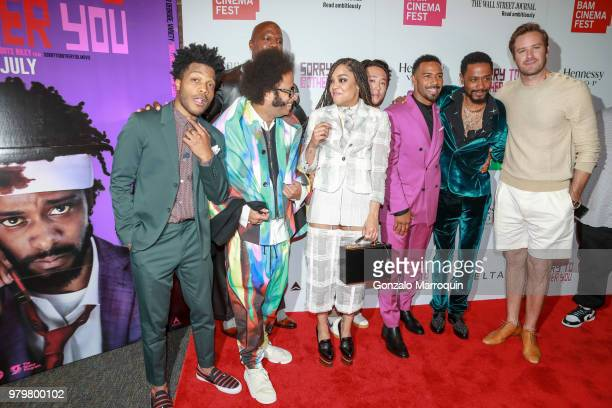 Jermaine Fowler, Boots Riley, Terry Crews, Tessa Thompson, Steven Yeun,Omari Hardwick, Lakeith Stanfield and Armie Hammer during the 10th Annual...