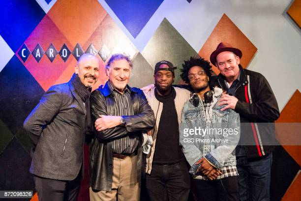 Jermaine Fowler David Koechner Rell Battle and Maz Jobrani perform their crosscountry SUPERIOR DONUTS Comedy Tour at Caroline's Comedy Club in New...