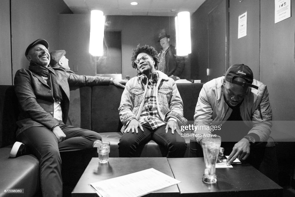 Jermaine Fowler, David Koechner, Rell Battle and Maz Jobrani perform their cross-country SUPERIOR DONUTS Comedy Tour at Caroline's Comedy Club in New York City on Thursday, October 26, 2017. Pictured L-R: Maz Jobrani, Jermaine Fowler, David Koechner, and Rell Battle