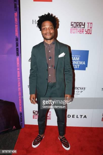 """Jermaine Fowler during the 10th Annual BAMcinemaFest Opening Night Premiere Of """"Sorry To Bother You"""" at BAM Harvey Theater on June 20, 2018 in New..."""