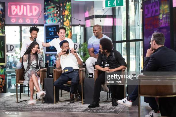Jermaine Fowler, Tessa Thompson, Steven Yeun, Lakeith Stanfield, Terry Crews, and Boots Riley visit Build Studio to discuss 'Sorry to Bother You' at...