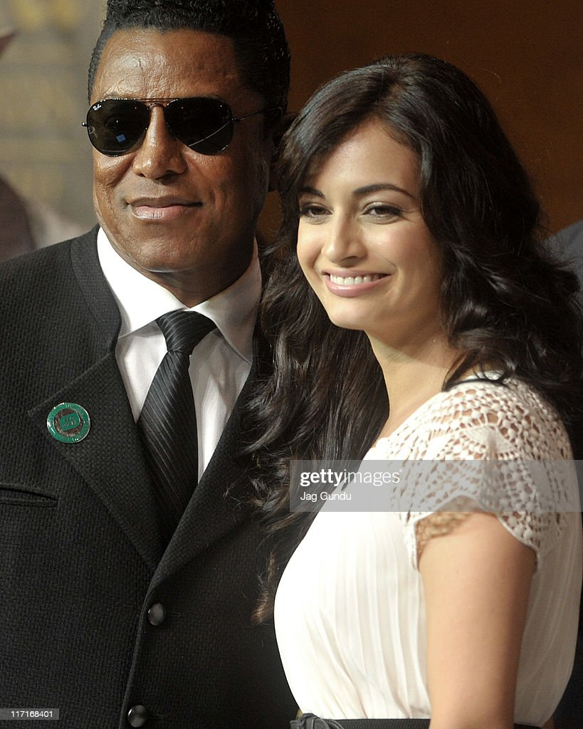 Jermaine Jackson and Diya Mirza at the official launch of the 2011 IFFA press conference at the Royal York Hotel on June 23, 2011 in Toronto, Canada.