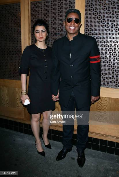 Jermaine Jackson and his wife Halima Rashid attend a drinks reception to promote Arena's new TV show 'The Jacksons A Family Dynasty' at Tokonoma on...
