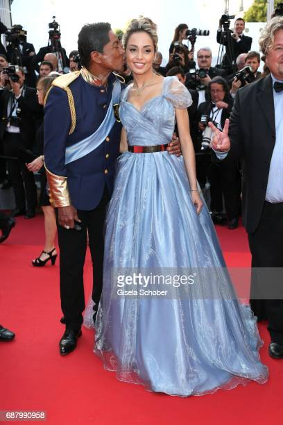 Jermaine Jackson and Maday Velazquez attend the 'The Beguiled' screening during the 70th annual Cannes Film Festival at Palais des Festivals on May...
