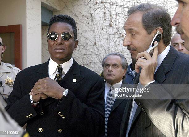 Jermaine Jackson and Michael Jackson defense attorney Mark Geragos leave the Santa Maria Court House after Michael Jackson's arraignment on child...