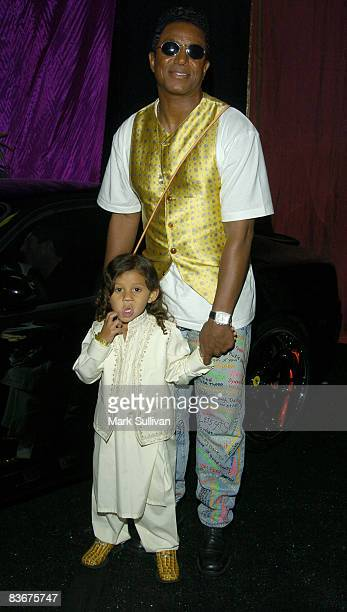 Jermaine Jackson and son Jermajesty in Backstage Creations Talent Retreat at 2004 Motown 45 Special