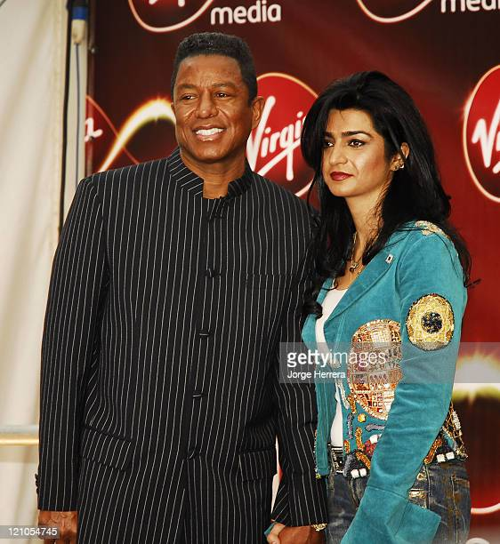 Jermaine Jackson and Wife during Virgin Media Photocall at Covent Garden in London Great Britain