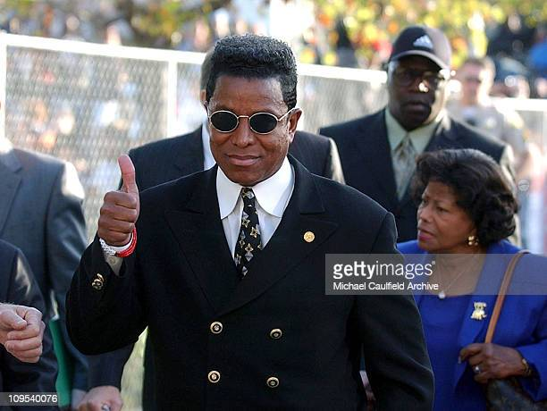 Jermaine Jackson arrives at the courthouse in Santa Maria Calif Friday morning Jan 16 for Michael's arraignment on child molestation charges Jackson...