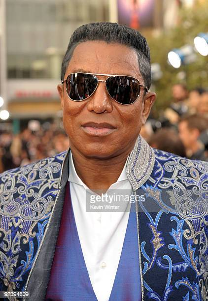 Jermaine Jackson arrives at the premiere of Sony Pictures' This Is It held at Nokia Theatre Downtown LA on October 27 2009 in Los Angeles California