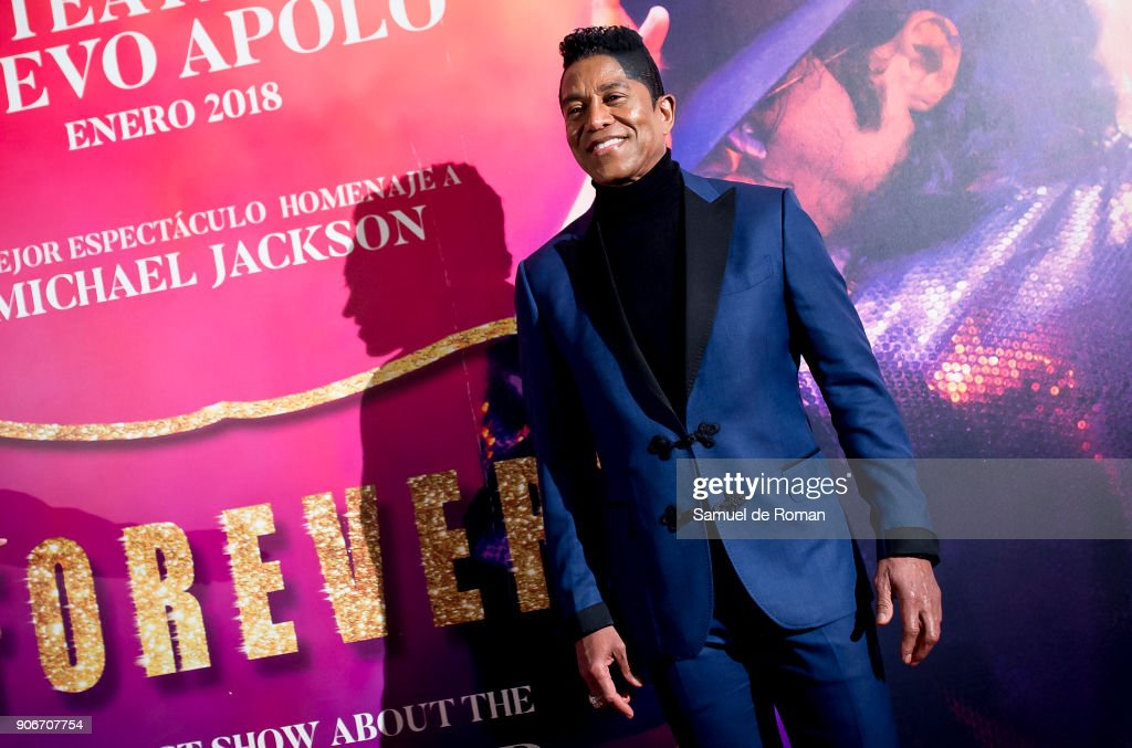 Jermaine Jackson attends 'Forever Jackson' Madrid Premiere on January 18, 2018 in Madrid, Spain.
