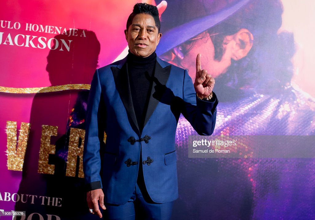 Jermaine Jackson attends the 'Forever Jackson' Madrid Premiere on January 18, 2018 in Madrid, Spain.