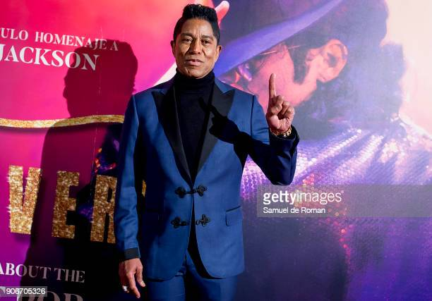 Jermaine Jackson attends the 'Forever Jackson' Madrid Premiere on January 18 2018 in Madrid Spain