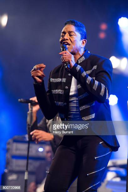 Jermaine Jackson from The Jacksons performs on the West Holts Stage on day 3 of the Glastonbury Festival 2017 at Worthy Farm Pilton on June 24 2017...