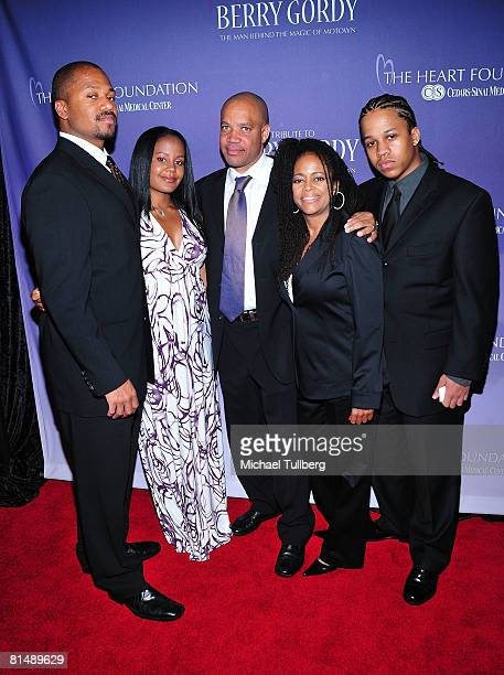 Jermaine Jackson Jr Autumn Jackson Kerry Gordy Hazel Gordy and Jaimy Jackson arrive at the Heart Foundation's honoring of Berry Gordy with the Steven...