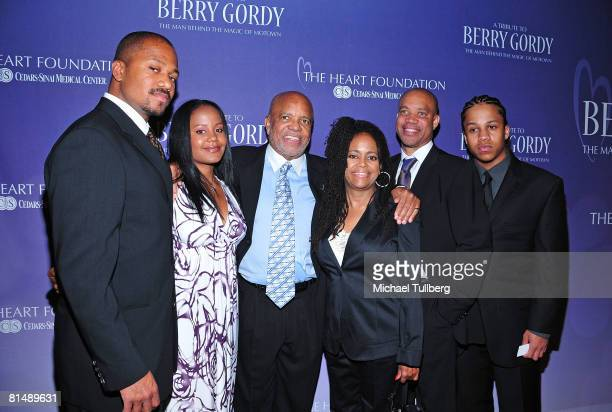 Jermaine Jackson Jr Autumn Jackson legendary Motown Records founder Berry Gordy Hazel Gordy Kerry Gordy and Jaimy Jackson arrive at the Heart...