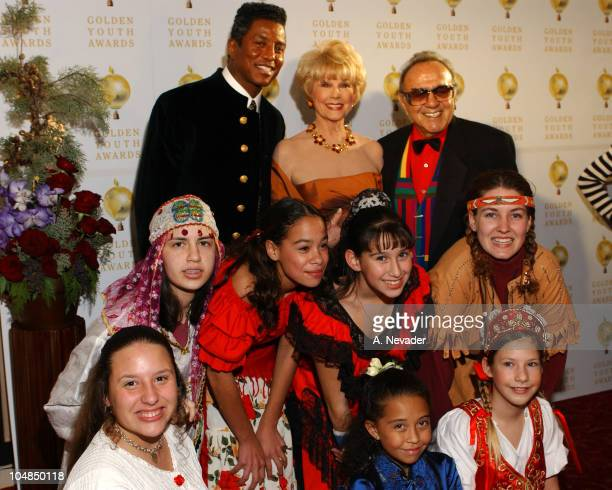 Jermaine Jackson Karen Kramer and George Barris with the Golden Youth Award Winners