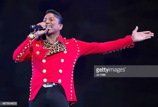 Jermaine Jackson of The Jacksons performs on stage at BBC Proms in the Park at Hyde Park on September 12 2015 in London England