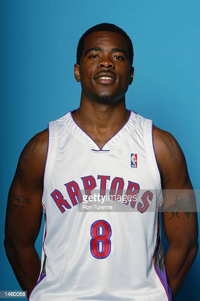 Jermaine Jackson of the Toronto Raptors poses for a portrait during Media Day on September 30 2002 at Air Canada Centre in Toronto Canada NOTE TO...