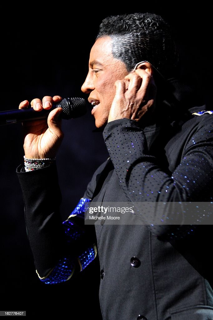 Jermaine Jackson performs at NIA Arena on February 26, 2013 in Birmingham, England.