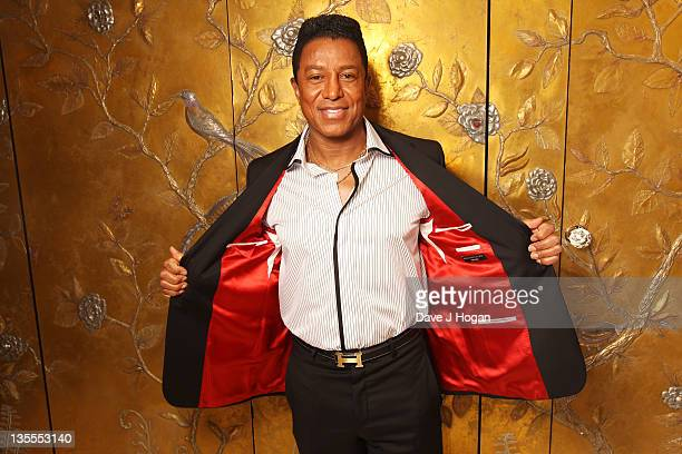 Jermaine Jackson poses for a portrait after getting fitted for a suit by Saville Row tailor Gary Anderson at The Dorchester Hotel on December 12 2011...