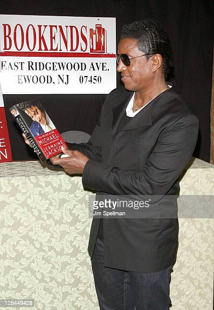 """Jermaine Jackson promotes the new book """"You Are Not Alone: Michael Through A Brother's Eyes"""" at Bookends Bookstore on September 17, 2011 in..."""