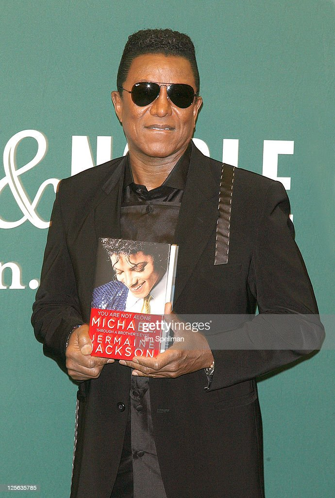 "Jermaine Jackson Signs Copies Of ""You Are Not Alone: Michael Through A Brother's Eyes"""
