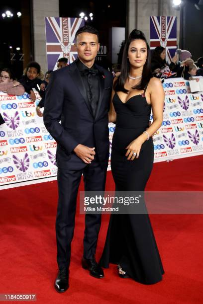 Jermaine Jenas and Ellie Penfold attend Pride Of Britain Awards 2019 at The Grosvenor House Hotel on October 28, 2019 in London, England.