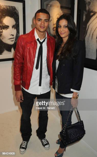 Jermaine Jenas and Ellie Penfold attend the private view of 'Russell Young Dirty Pretty Things' at the Scream Gallery on February 4 2010 in London...