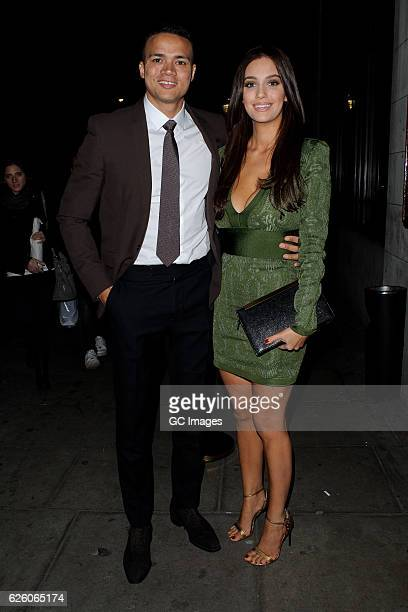 Jermaine Jenas and Ellie Penfold attend the Urban Music Awards 2016 at Porchester Hall on November 26 2016 in London England
