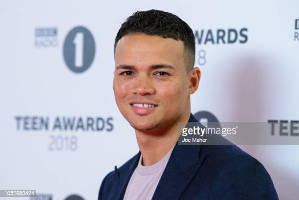 Jermaine Jenas arrives at the BBC Radio 1 Teen Awards at SSE Arena on October 21 2018 in London England