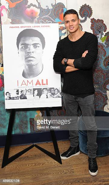 """Jermaine Jenas attends a screening of """"I Am Ali"""" at The Hospital Club on November 24, 2014 in London, England."""