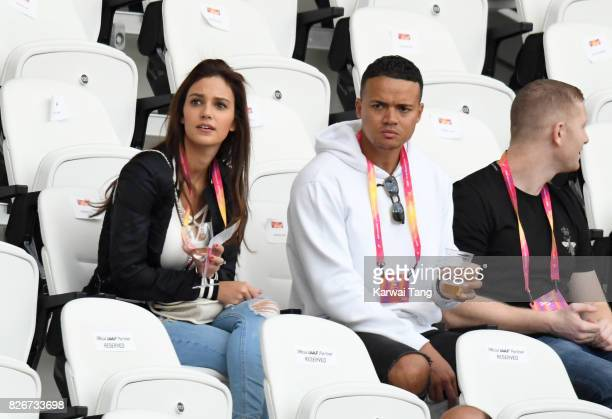 Jermaine Jenas attends day two of the IAAF World Athletics Championships at the London Stadium on August 5 2017 in London United Kingdom