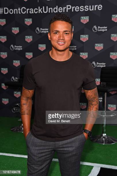 Jermaine Jenas attends the TAG Heuer announcement of the extension of its partnership as Official Timekeeper to The Premier League August 14 2018 in...