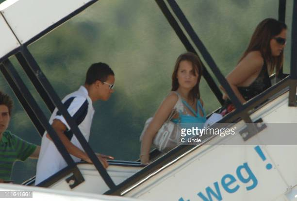 Jermaine Jenas during England Football Players Wives and Girlfriends Leave to Return to England after the FIFA 2006 World Cup at BadenBaden Airport...