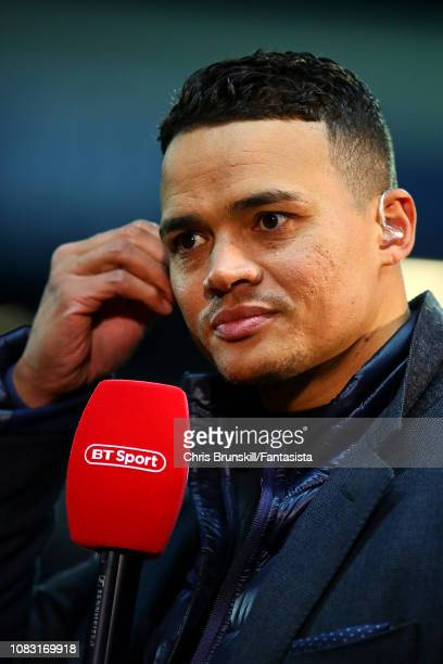 Jermaine Jenas looks on during the FA Cup Third Round Replay match between Blackburn Rovers and Newcastle United at Ewood Park on January 15 2019 in...