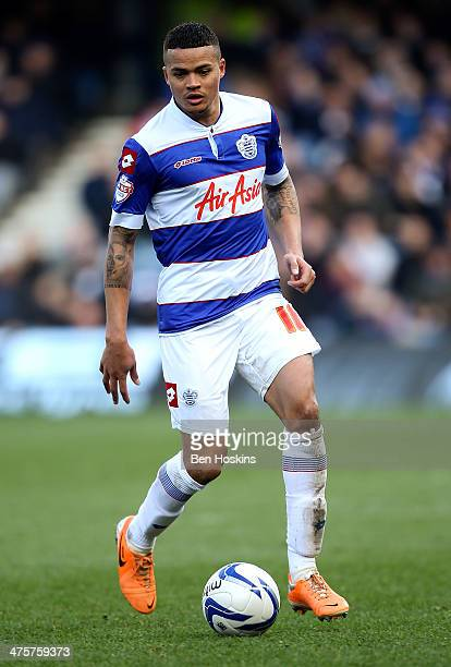 Jermaine Jenas of QPR in action during the Sky Bet Championship match between Queens Park Rangers and Leeds United at Loftus Road on March 1 2014 in...
