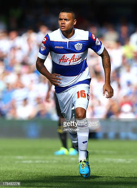 Jermaine Jenas of Queens Park Rangers looks on during the Sky Bet Championship match between Queens Park Rangers and Sheffield Wednesday at Loftus...