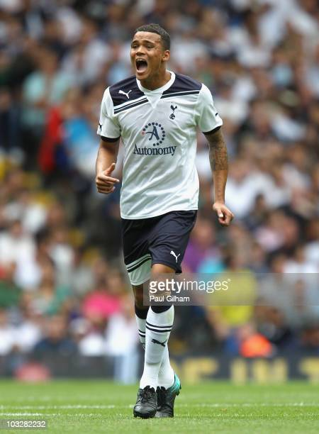 Jermaine Jenas of Tottenham Hotspur in action during the pre-season friendly match between Tottenham Hotspur and Fiorentina at White Hart Lane on...