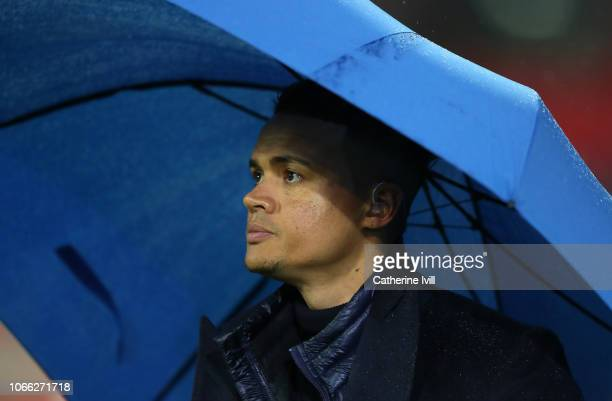Jermaine Jenas prior to the Group B match of the UEFA Champions League between Tottenham Hotspur and FC Internazionale at Wembley Stadium on November...