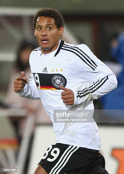 Jermaine Jones of Germany is in action during the friendly match between Austria and Germany at the Ernst Happel stadium on February 6, 2008 in...