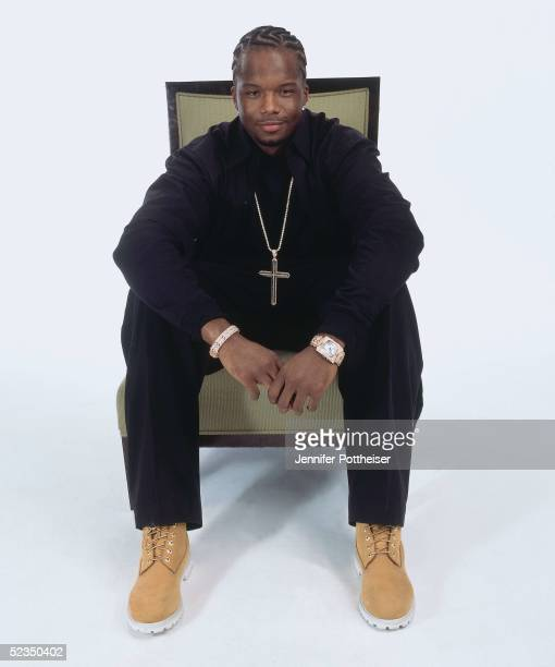 Jermaine O'Neal poses for a photo during the 2005 NBA AllStar Media Availability portrait session on February 18 2005 at The Westin Hotel in Dever...