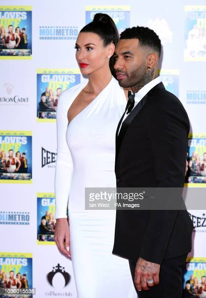 Jermaine Pennant and Alice Goodwin attending the premiere of Gloves Off at The Prince Charles Cinema London