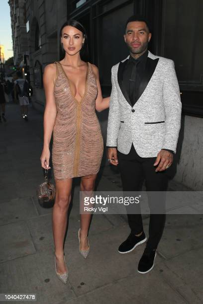 Jermaine Pennant and Alice Goodwin seen attending National Reality TV Awards at Porchester Hall on September 25, 2018 in London, England.