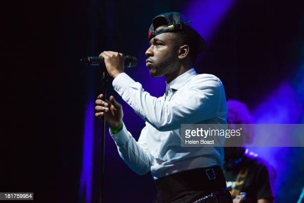 Jermaine Riley of Dora Martin performs on stage at Musicalize at Indigo2 at O2 Arena on September 24, 2013 in London, England.