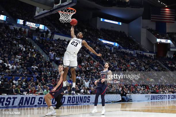 Jermaine Samuels of the Villanova Wildcats goes up for a dunk in the second half against the Saint Mary's Gaels during the 2019 NCAA Men's Basketball...